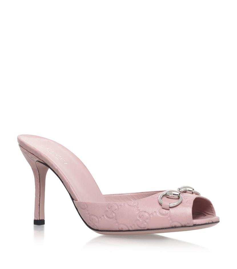 ca0055310050 Gucci Jolene Peep-toe Mules 110 in Pink - Lyst