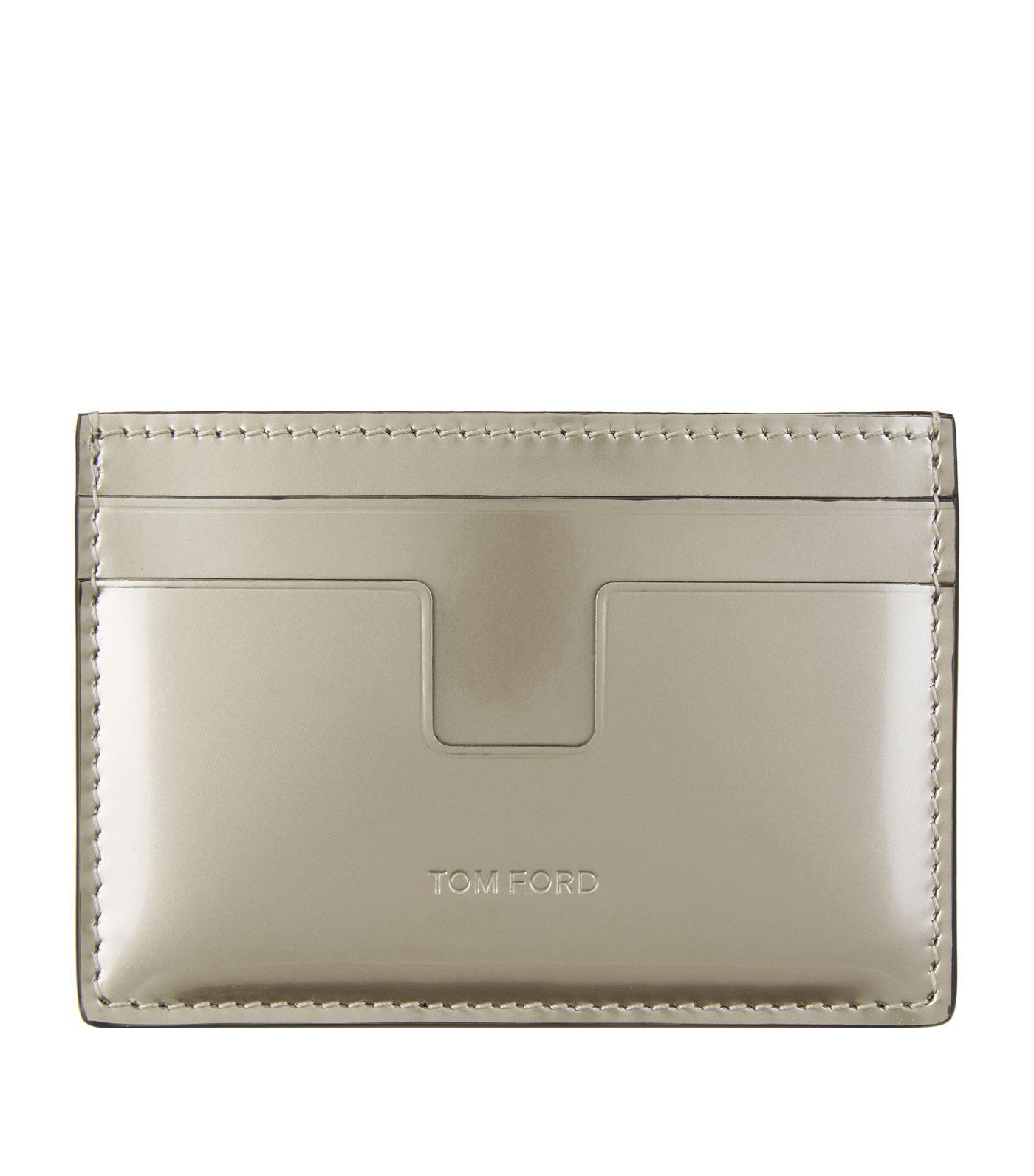 fdfb2b6b7c8 Tom Ford Patent Leather Metallic Card Holder in Metallic for Men - Lyst