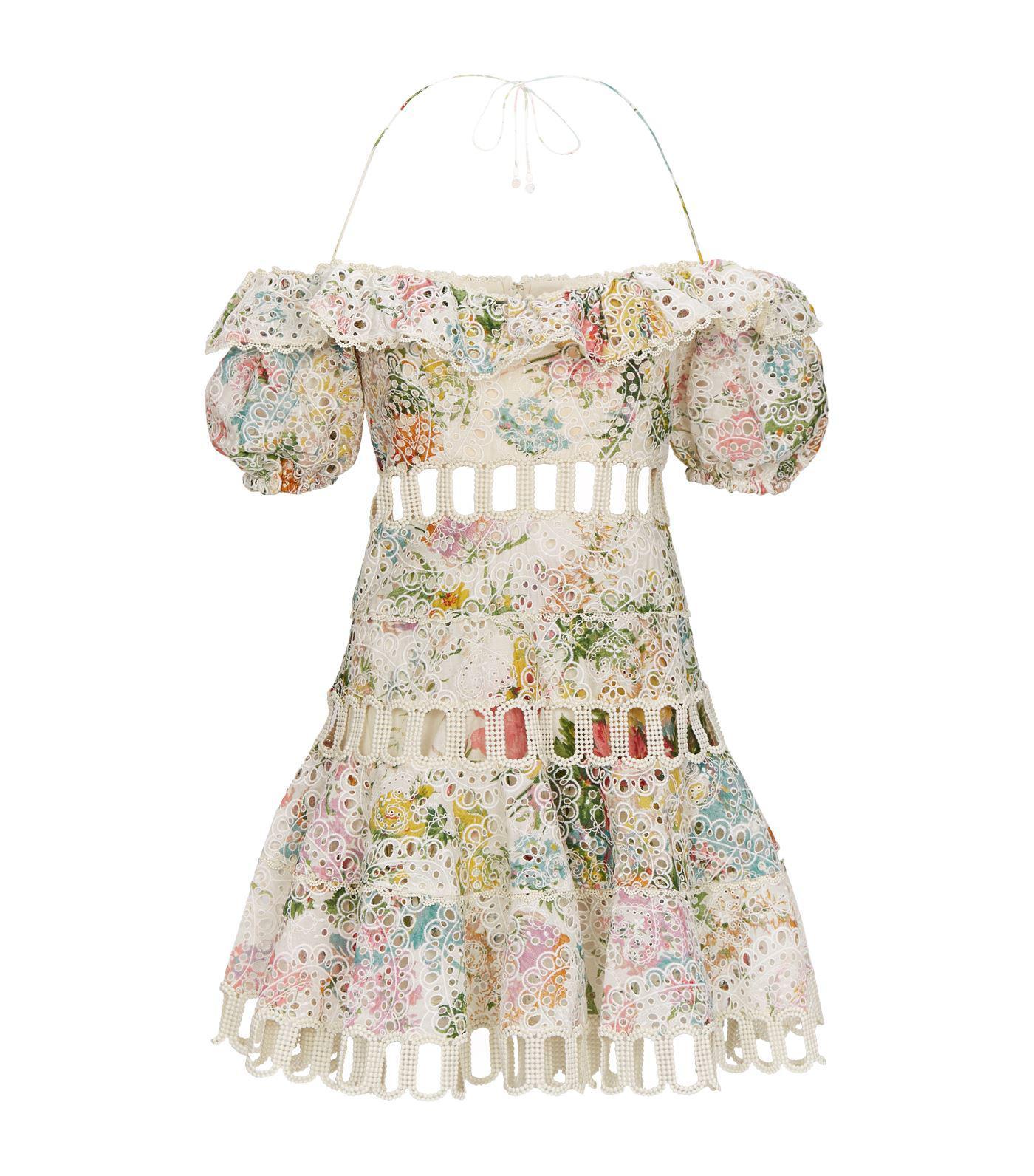 f5197957cfc Zimmermann Heathers Floral Lace Minidress - Save 6% - Lyst