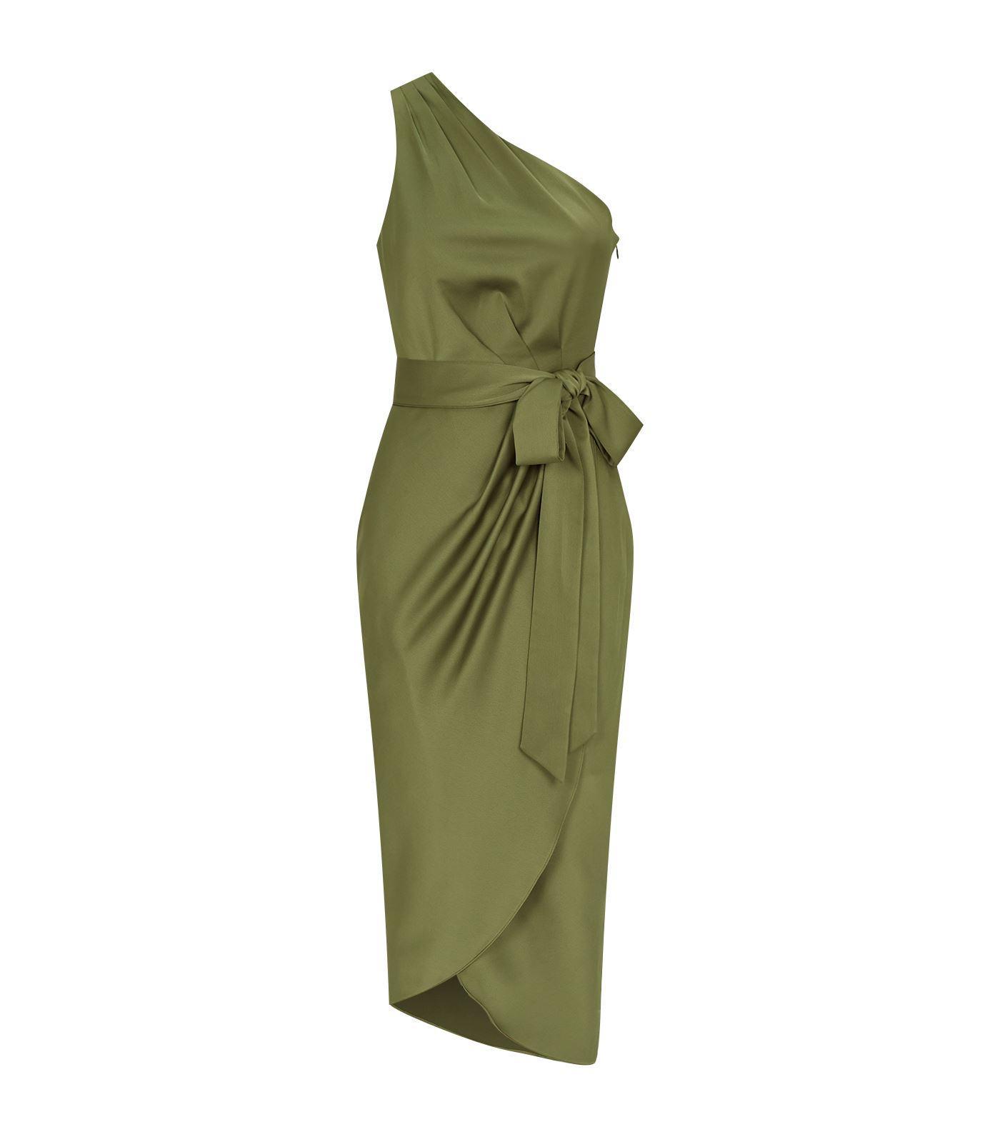 add1f9549bc6ab Ted Baker Gabie Draped Midi Dress in Green - Lyst
