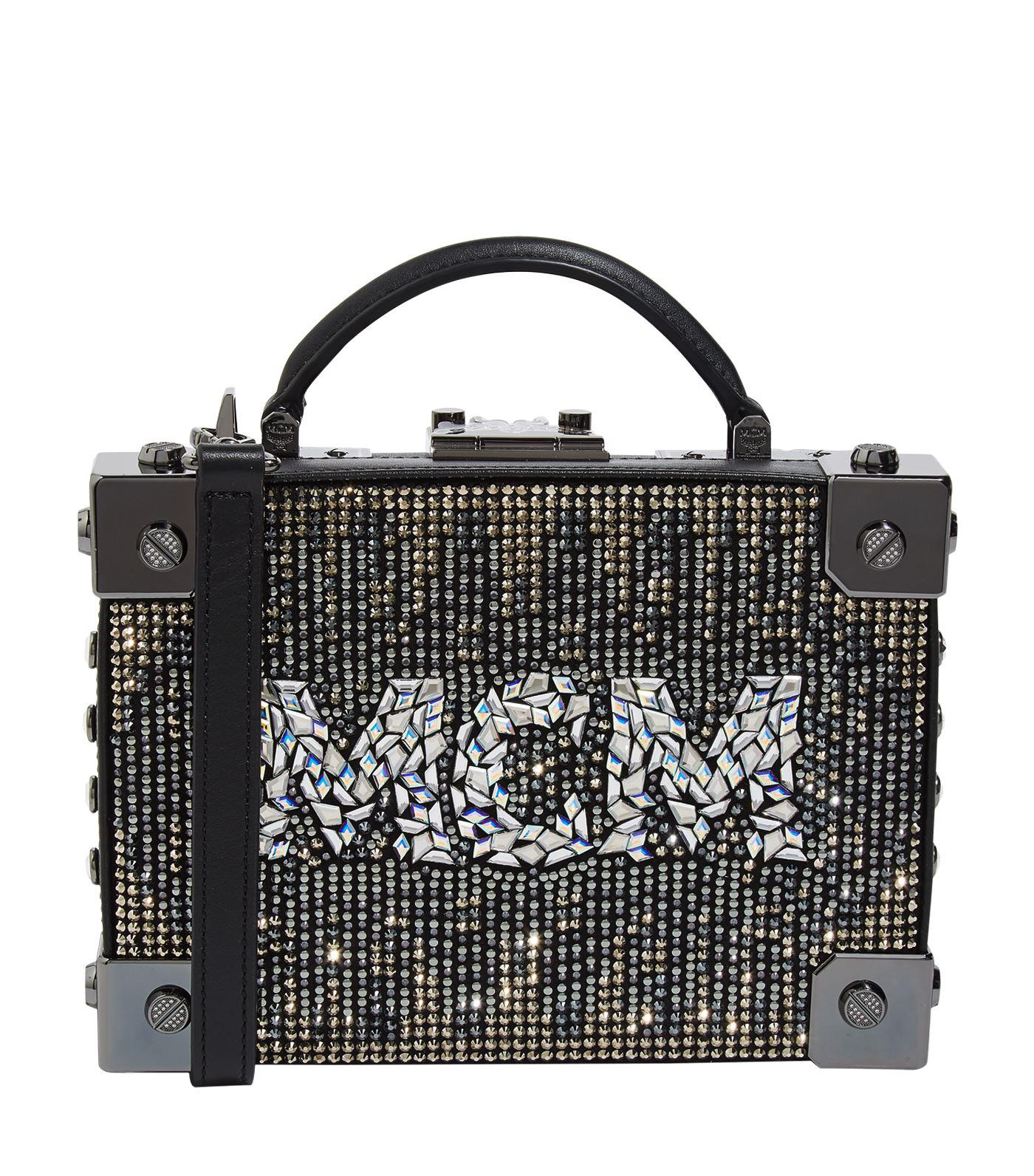284f126abb Lyst - MCM Berlin Mosaic Crystal Cross Body Bag in Black - Save 11%