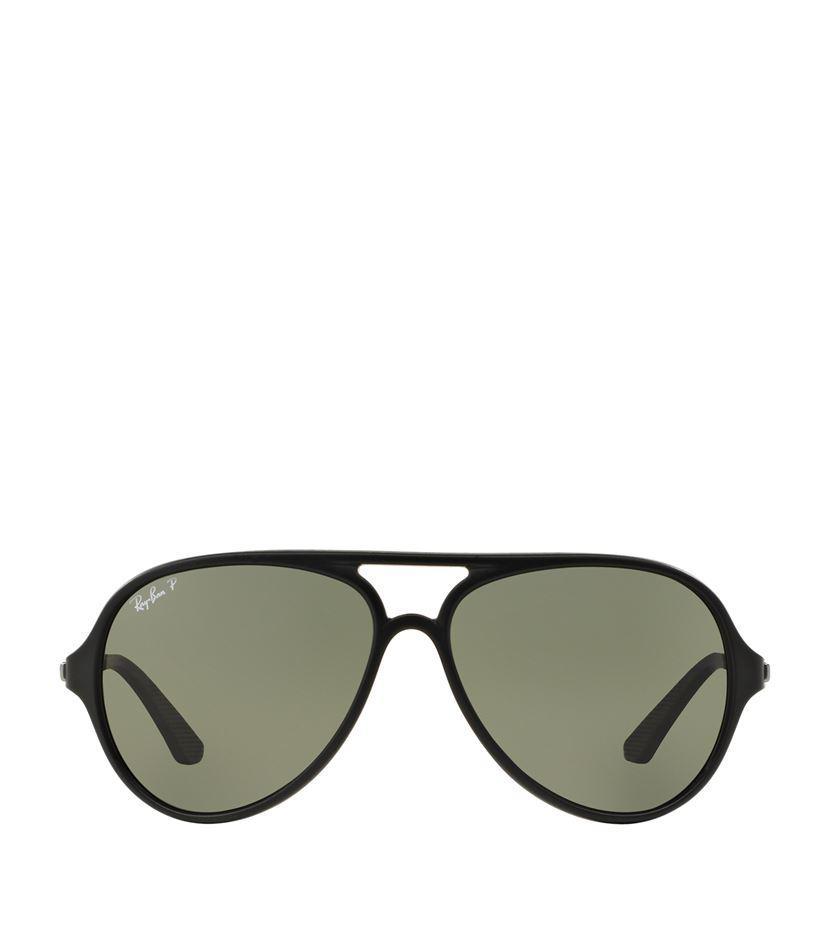 pilot ray ban esls  Ray-Ban Women's Black Chunky Pilot Sunglasses