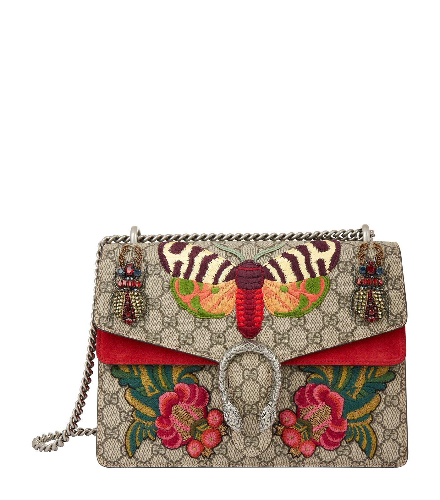 c4a2cd8adbf Lyst - Gucci Large Dionysus Butterfly Beetle Bag
