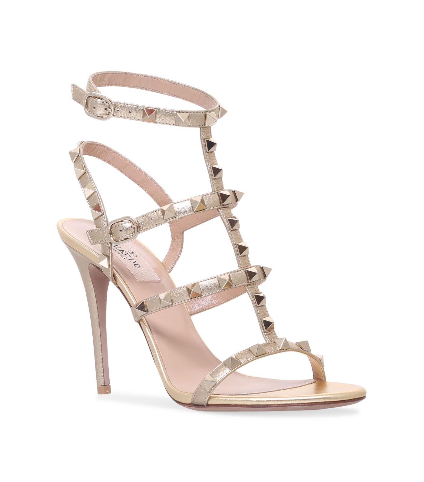 23415660e3f Lyst - Valentino Leather Rockstud Sandals 105