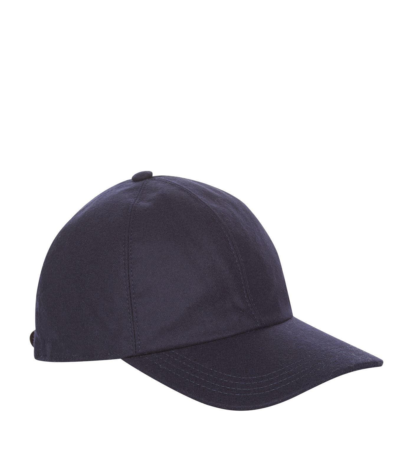 ea3ba753fe5 Lyst - Brunello Cucinelli Wool Felt Baseball Cap in Blue for Men