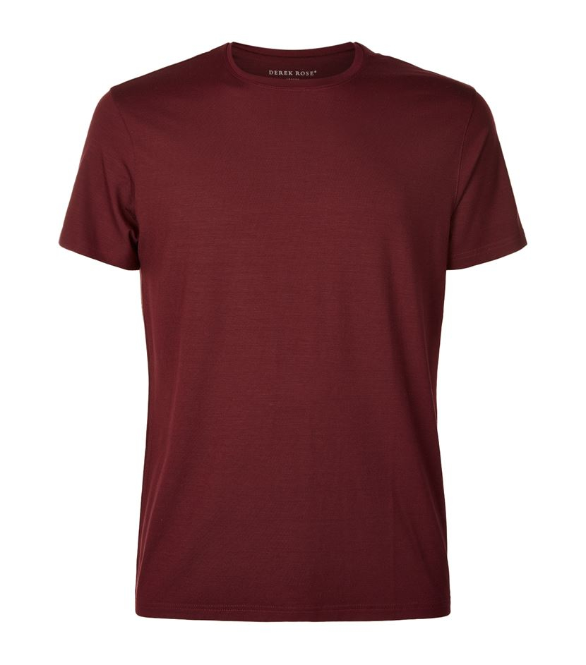 Lyst Derek Rose Basel Short Sleeved T Shirt In Red For Men