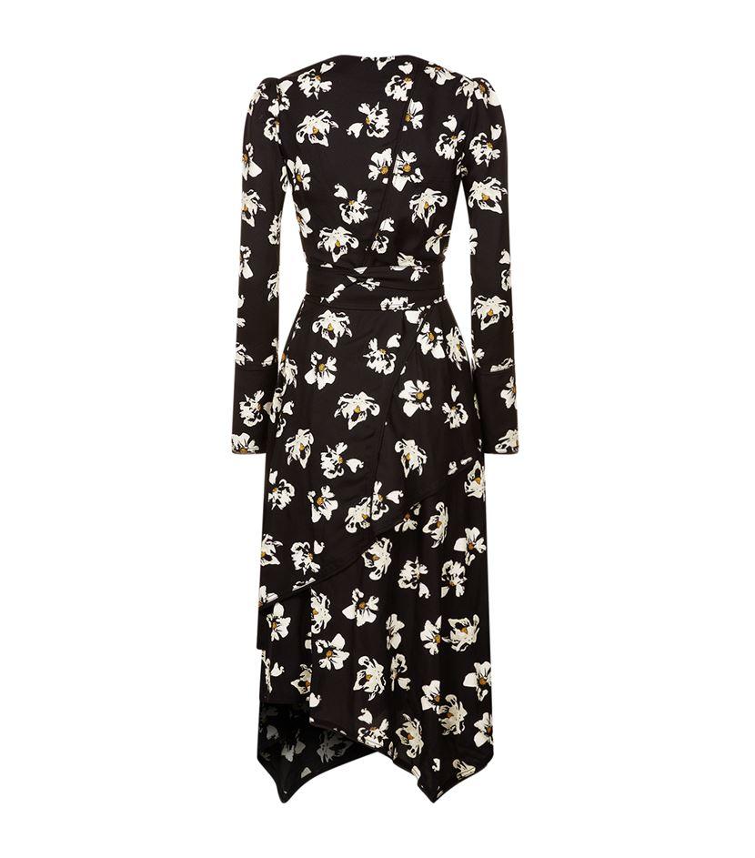 Proenza schouler Long Sleeved Wrap Dress in Black