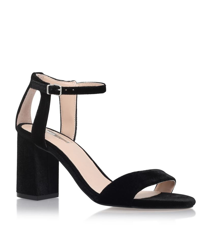 carvela kurt geiger gigi strappy mid heel sandals in black
