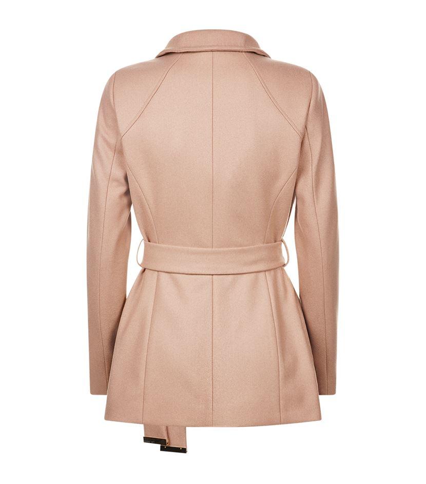 ef8251d86ebb82 Ted Baker Elethea Short Wrap Coat in Pink - Lyst