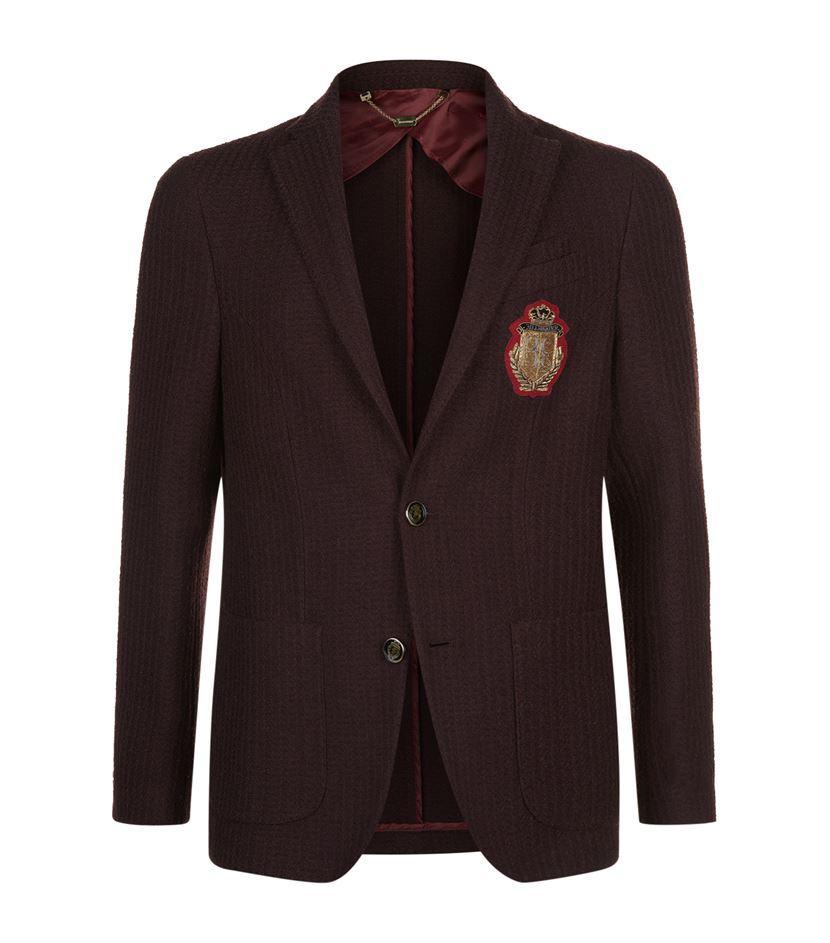 Lyst - Billionaire Logo Badge Textured Jacket For Men