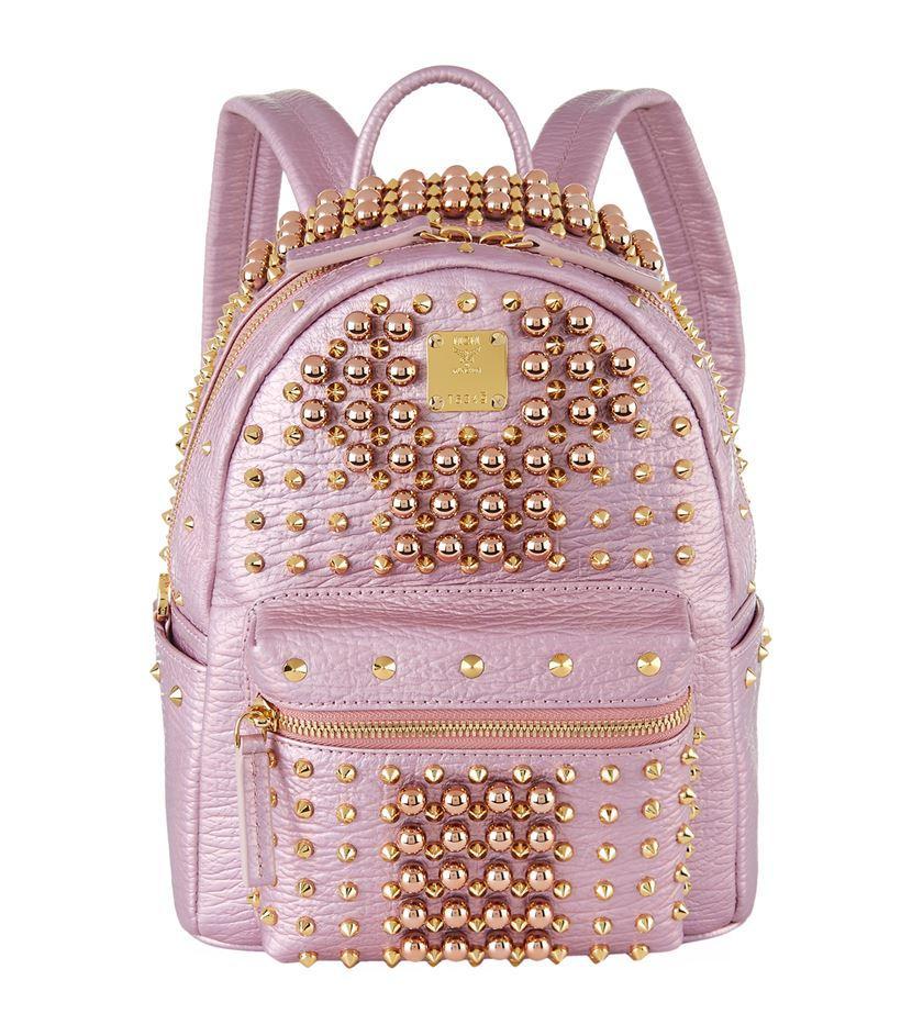 77d1ac474ff Mcm Mini Stark Pearl Stud Backpack - Lyst