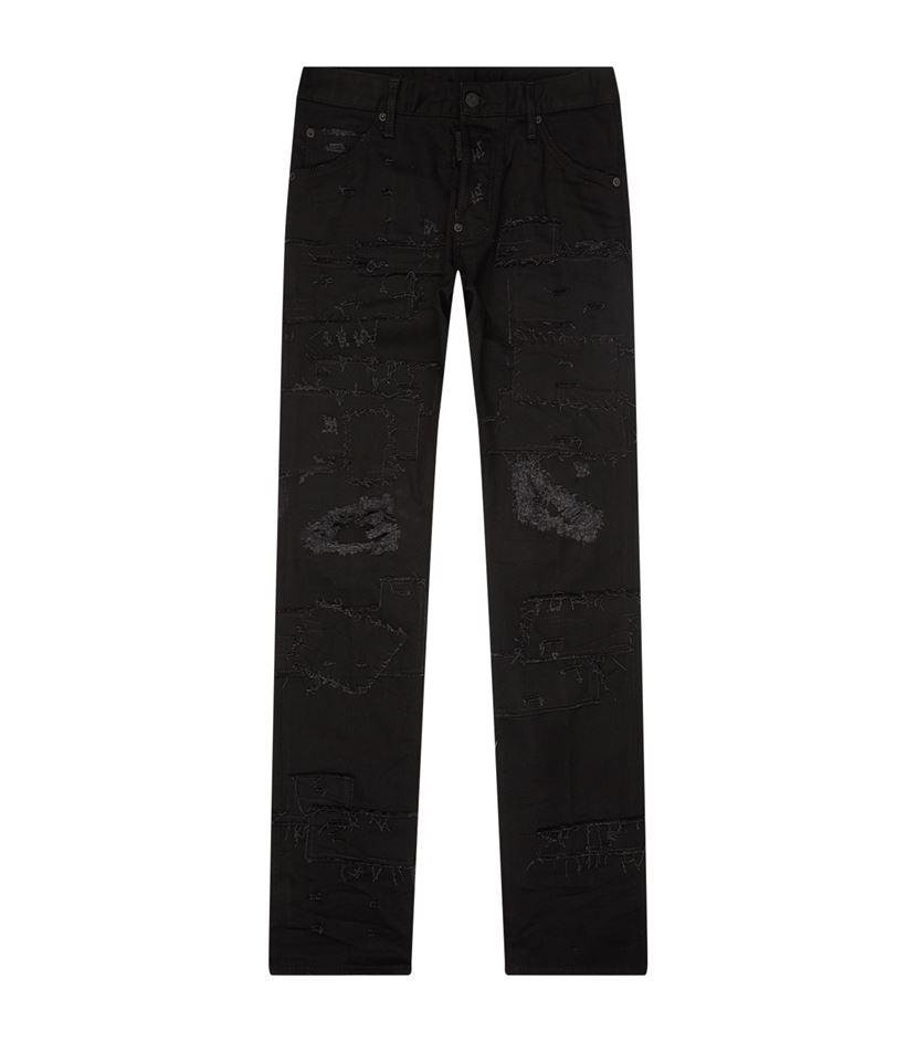Dsquared² Destroyed Cool Guy Jeans in Black for Men | Lyst