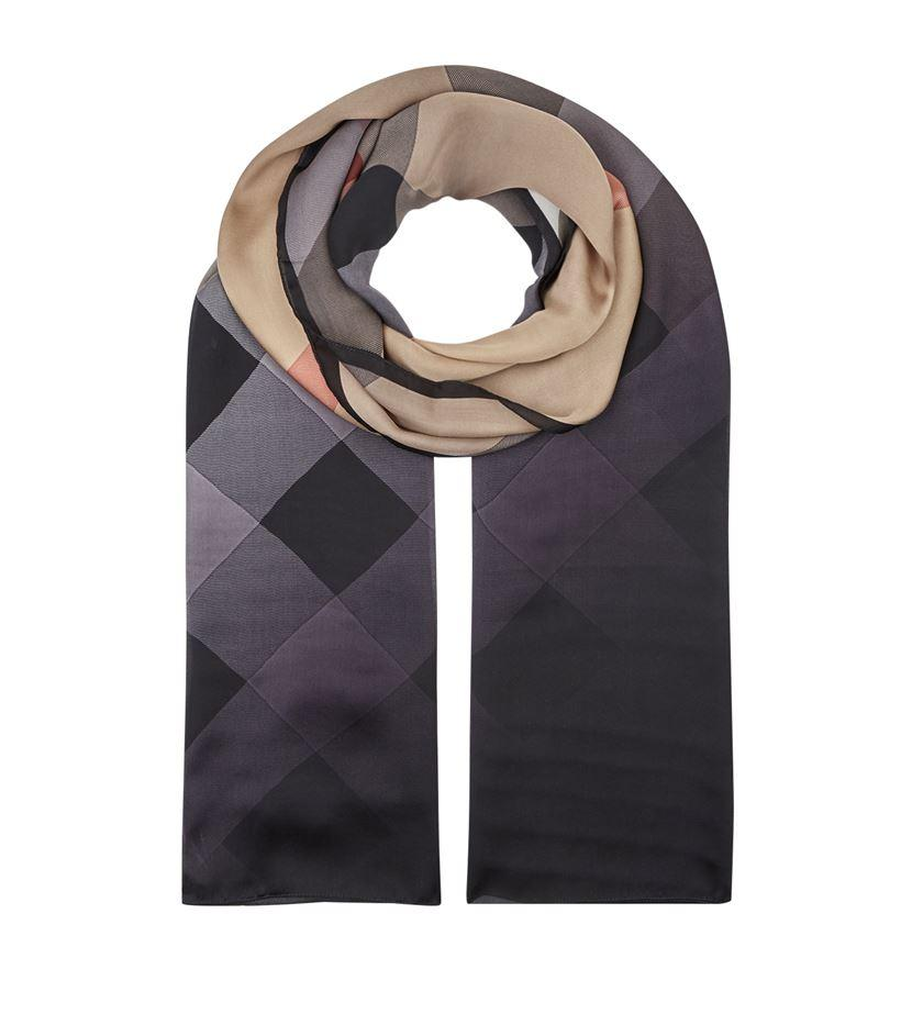 burberry ombre wash silk scarf lyst
