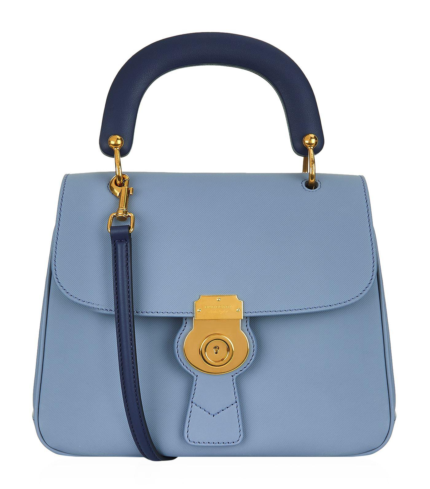 Lyst - Burberry Medium D88 Top Handle Bag in Blue 929d7a17dab87