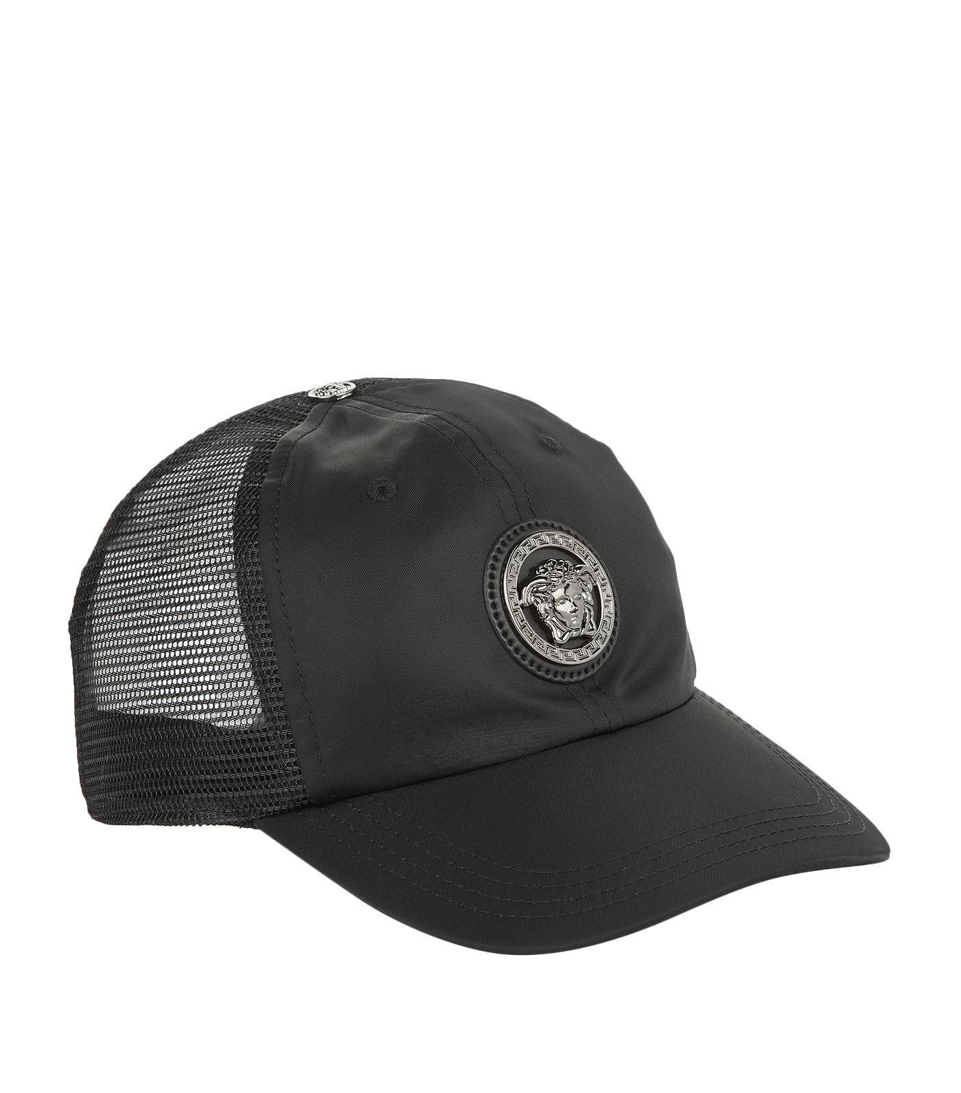 be56a4836d1 Versace Medusa Logo Baseball Cap in Black for Men - Lyst