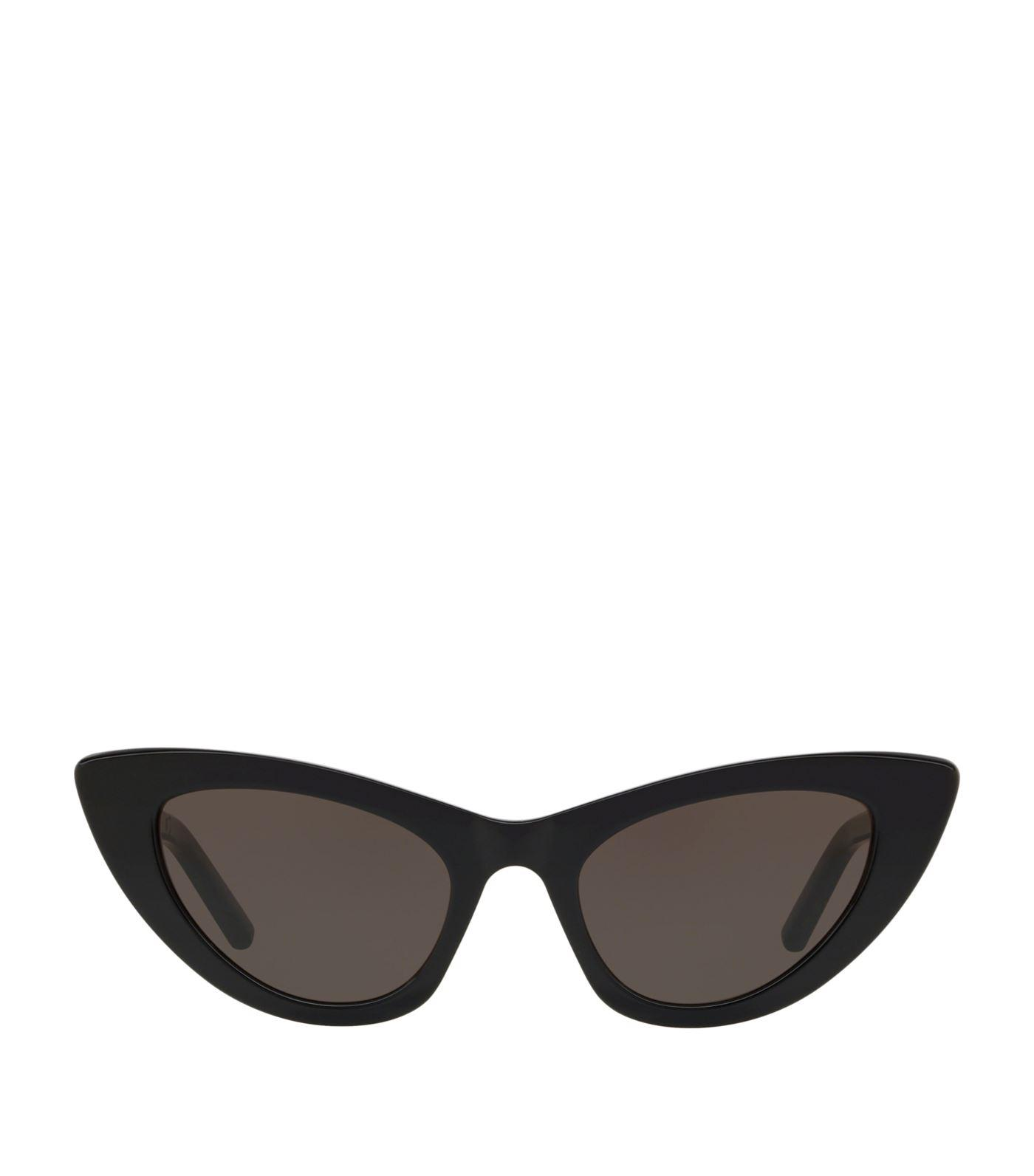 05d0657779 Saint Laurent Lily Cat Eye Sunglasses in Black - Lyst