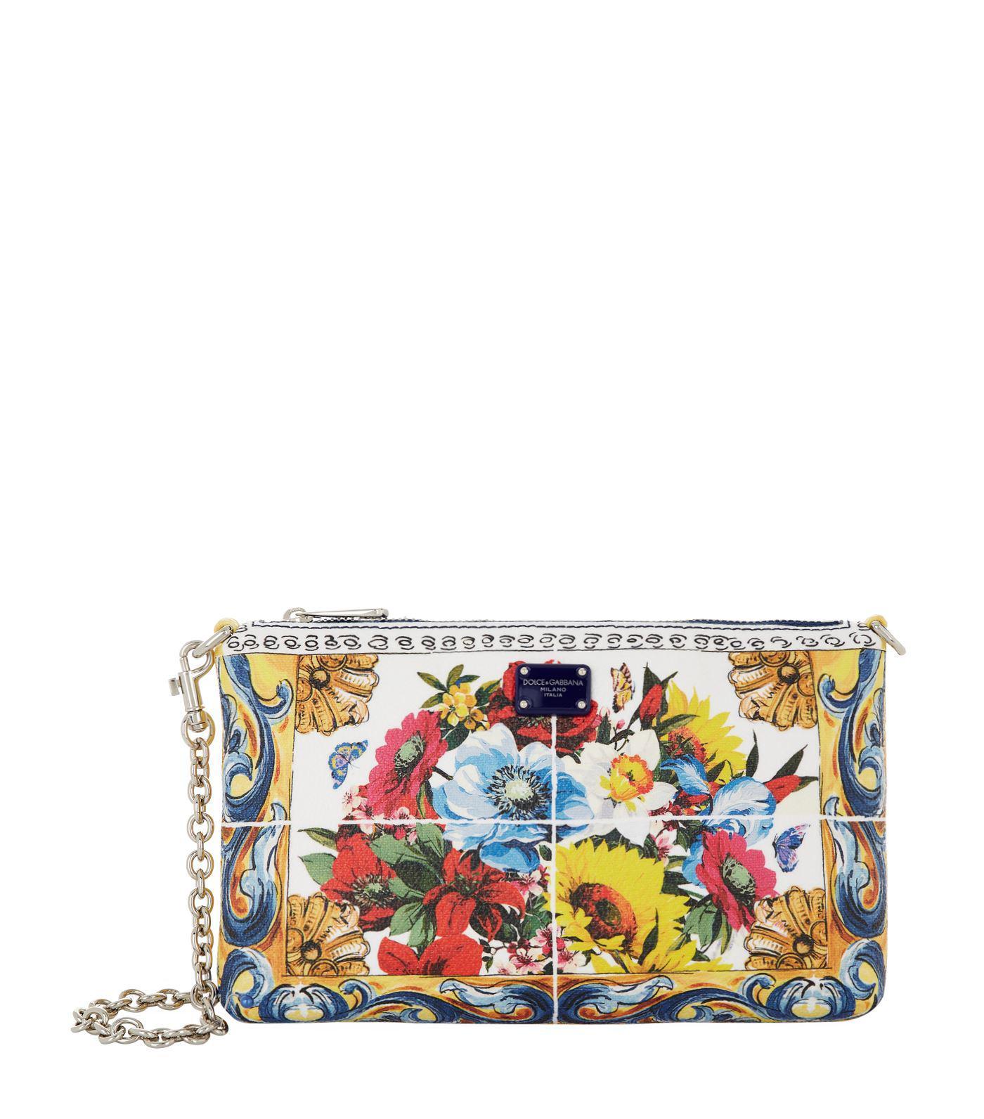 08a85e25c2fe Lyst - Dolce   Gabbana Mini Floral Clutch Bag
