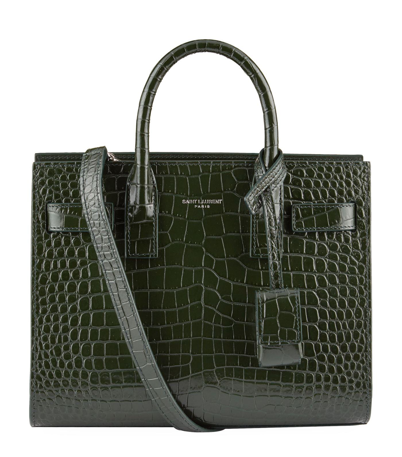 Borsa viaggio da Bag Laurent Day Croc Green Saint Lyst Tote Nano In rr5wBSaq