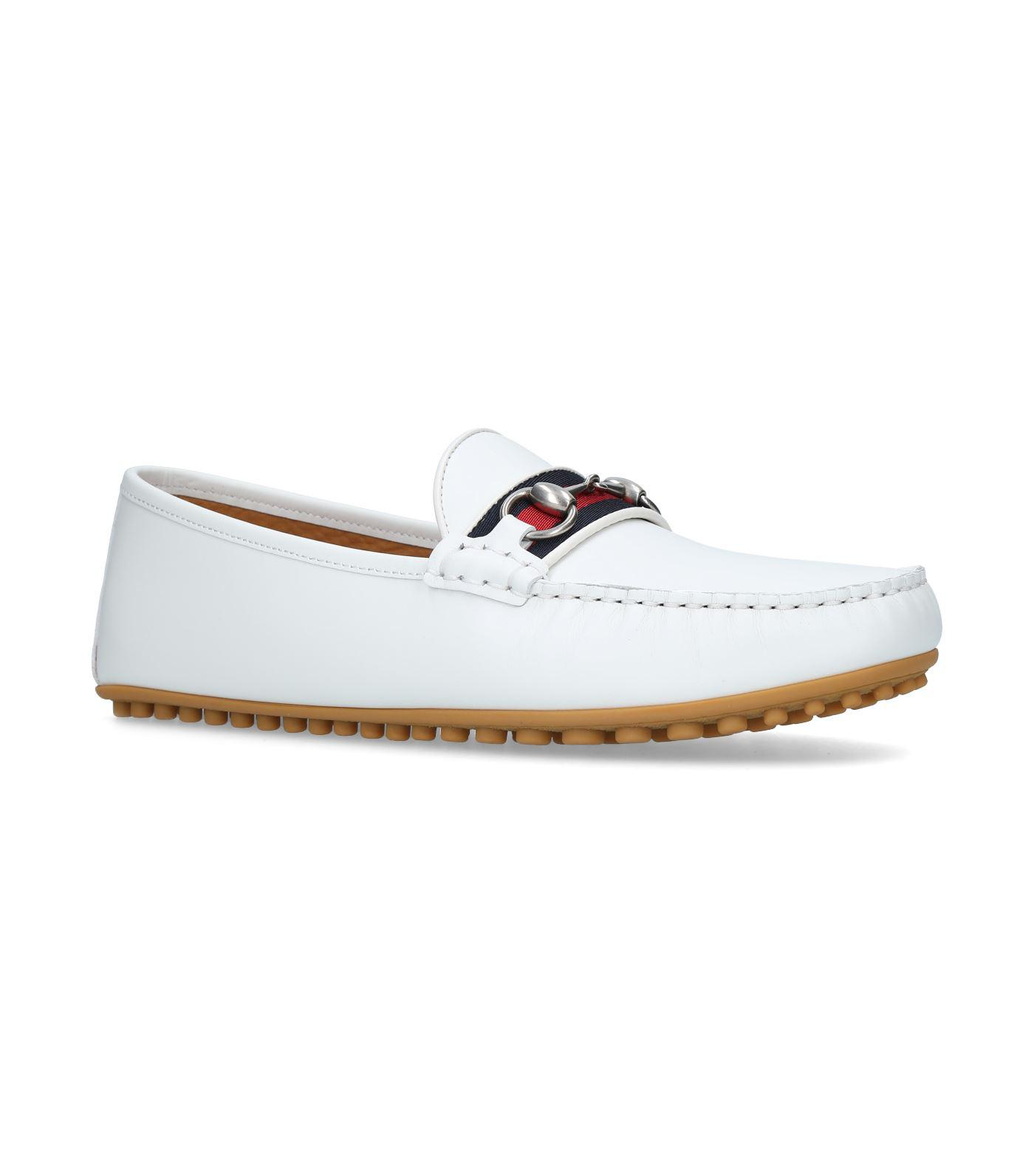 e43e8ed9e3d Lyst - Gucci Kanye Leather Driving Shoes in White for Men - Save 16%