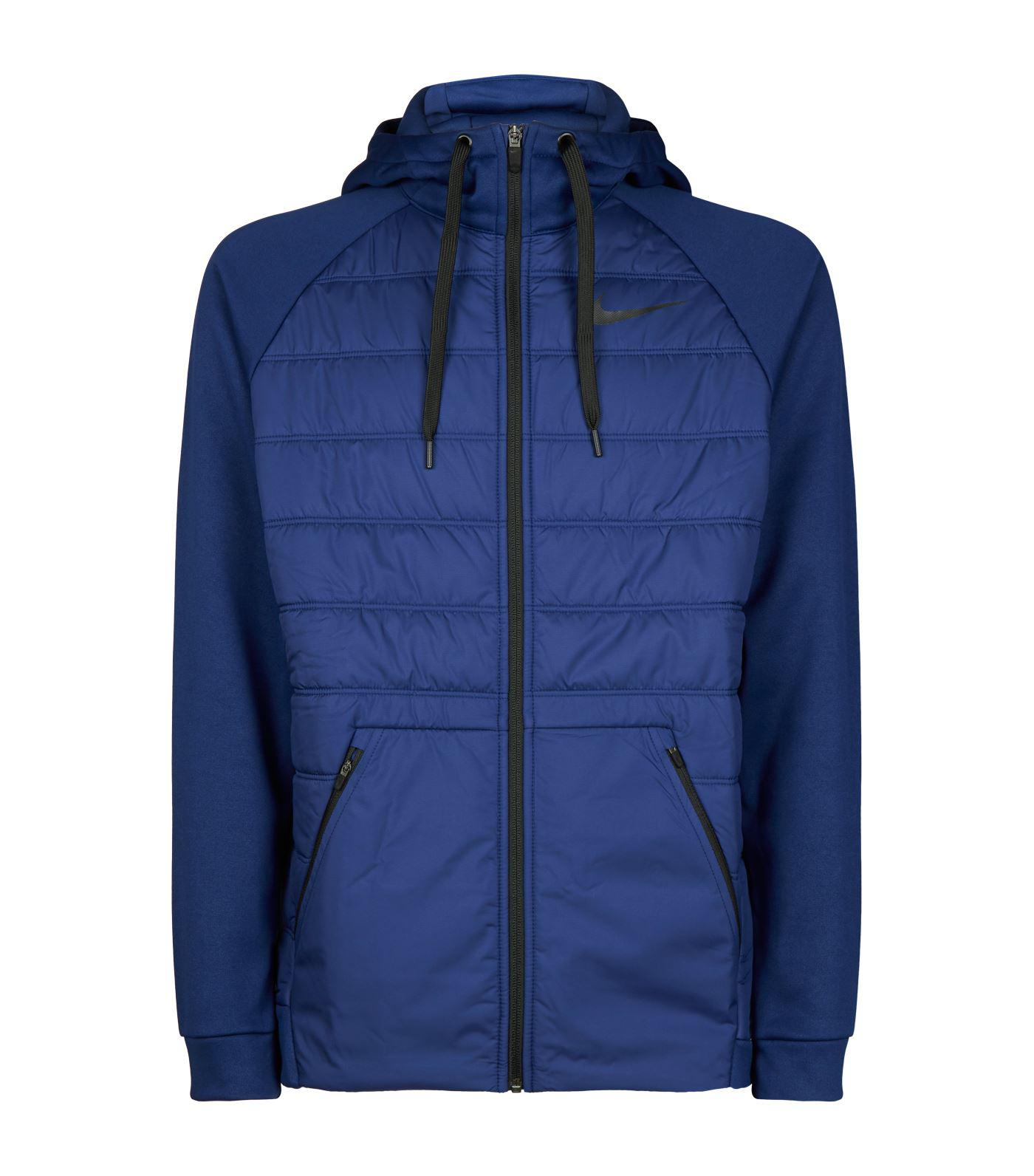 Nike Insulated Quilted Hoodie in Blue for Men - Lyst eb8373ec2e98