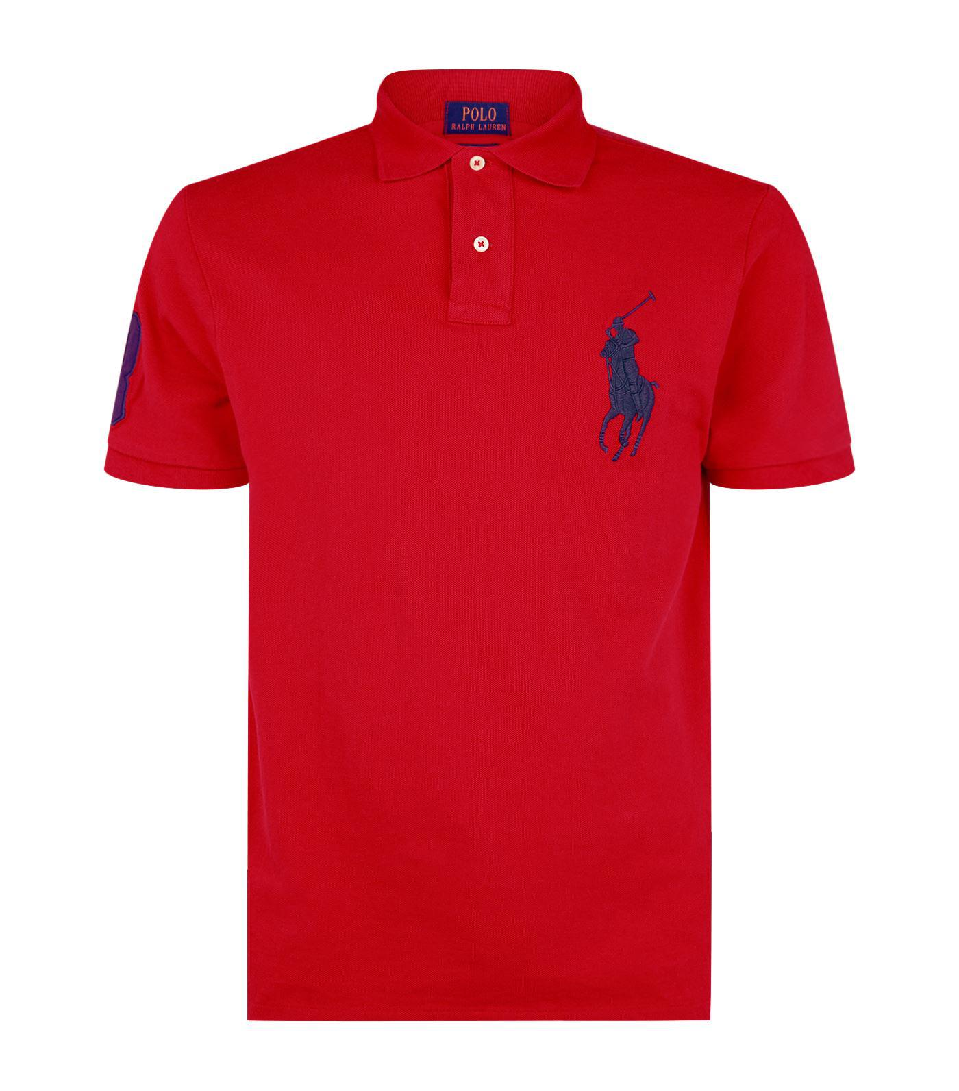 18f8f6d5 Polo Ralph Lauren. Men's Red Big Polo Pony Shirt. £119 From Harrods