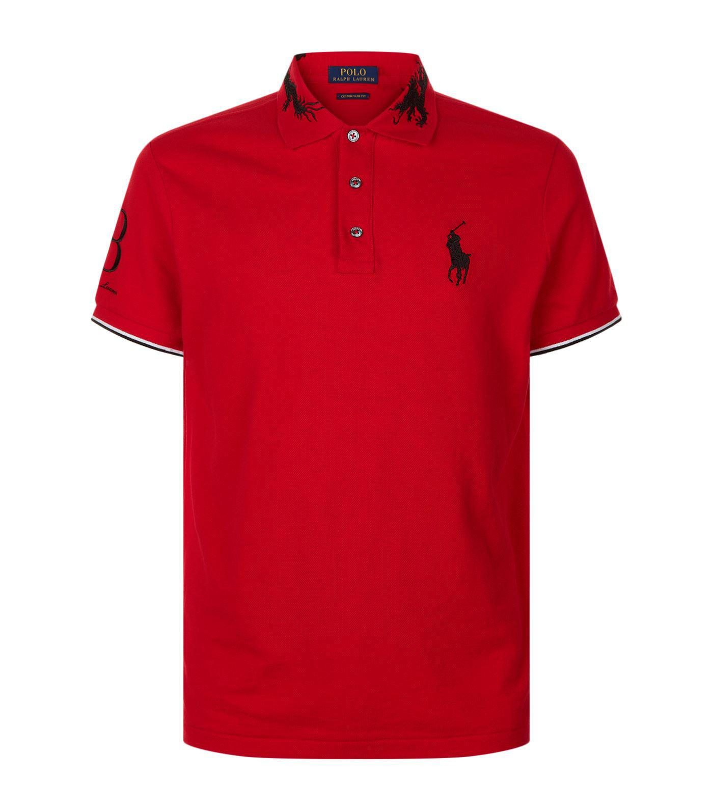 fd13a674 Polo Ralph Lauren Dragon Embroidered Polo Neck Top in Red for Men - Lyst
