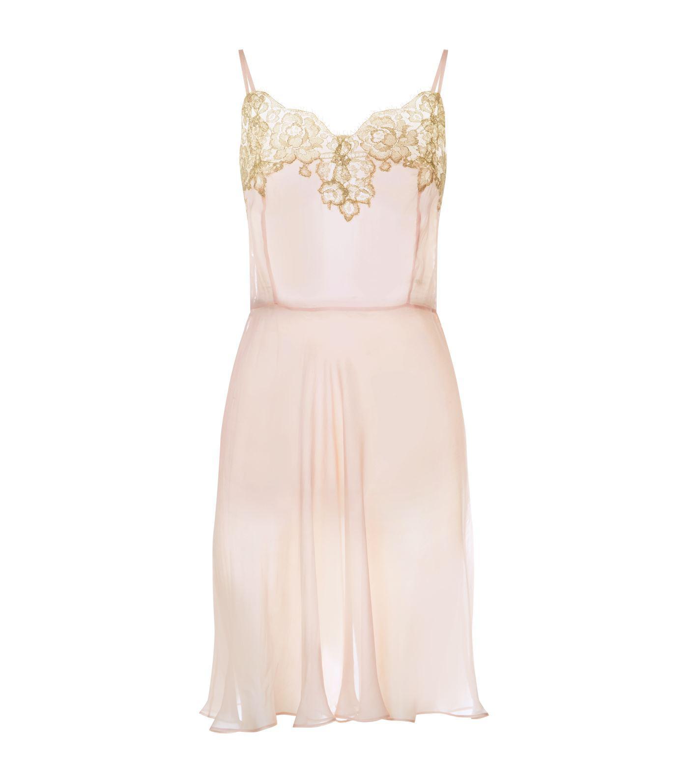Rosamosario Silk Nightdress in Pink - Lyst 2794063f1