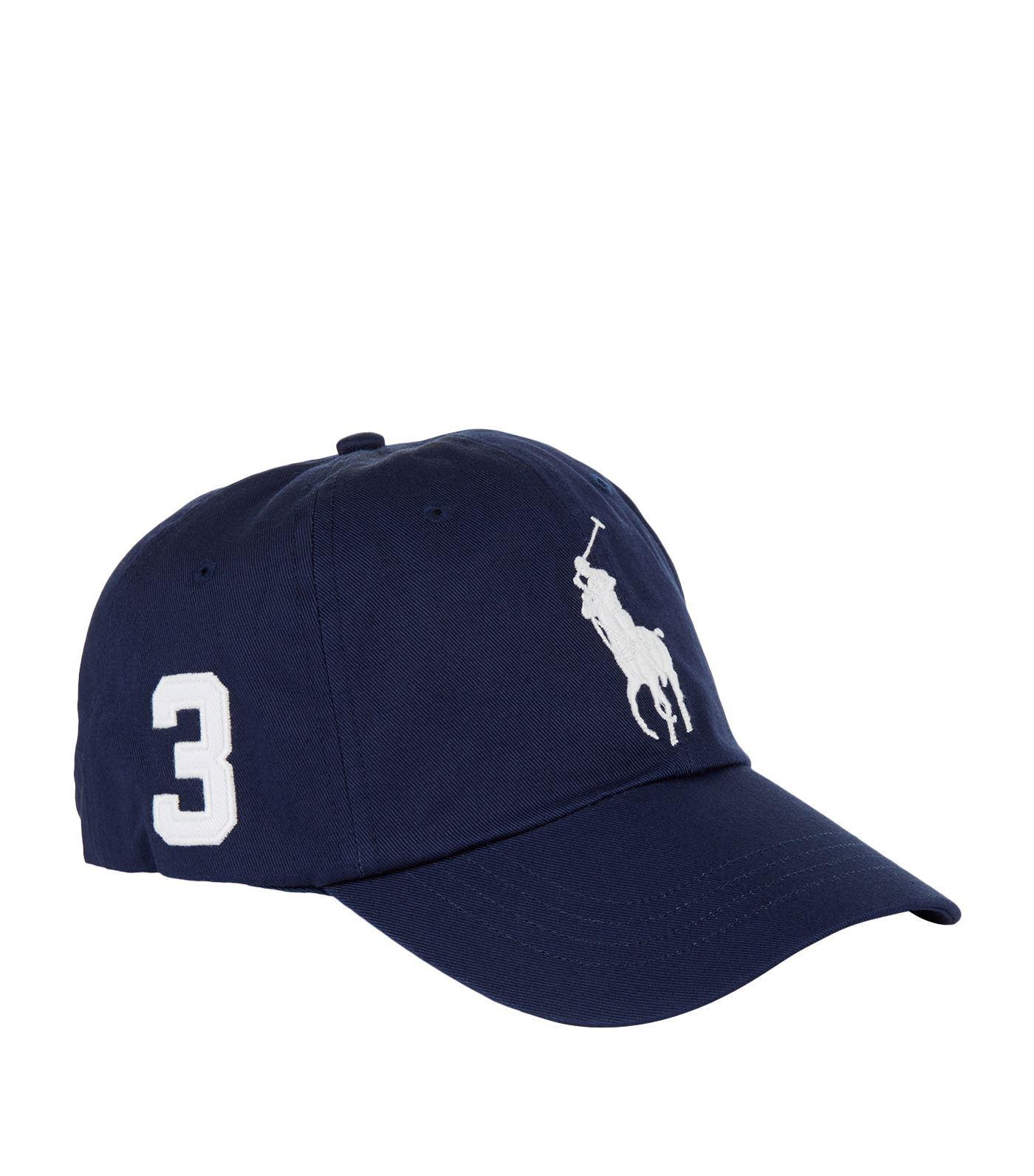 Lyst - Polo Ralph Lauren Big Pony Baseball Cap in Blue for Men fb888b1d304
