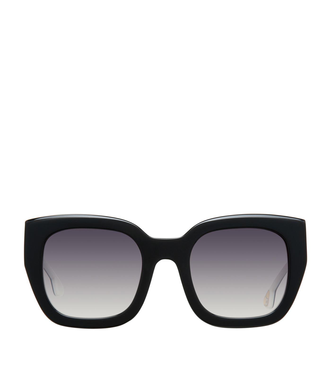 5f41a125f1 Lyst - Alice + Olivia Aberdeen Square Sunglasses in Black