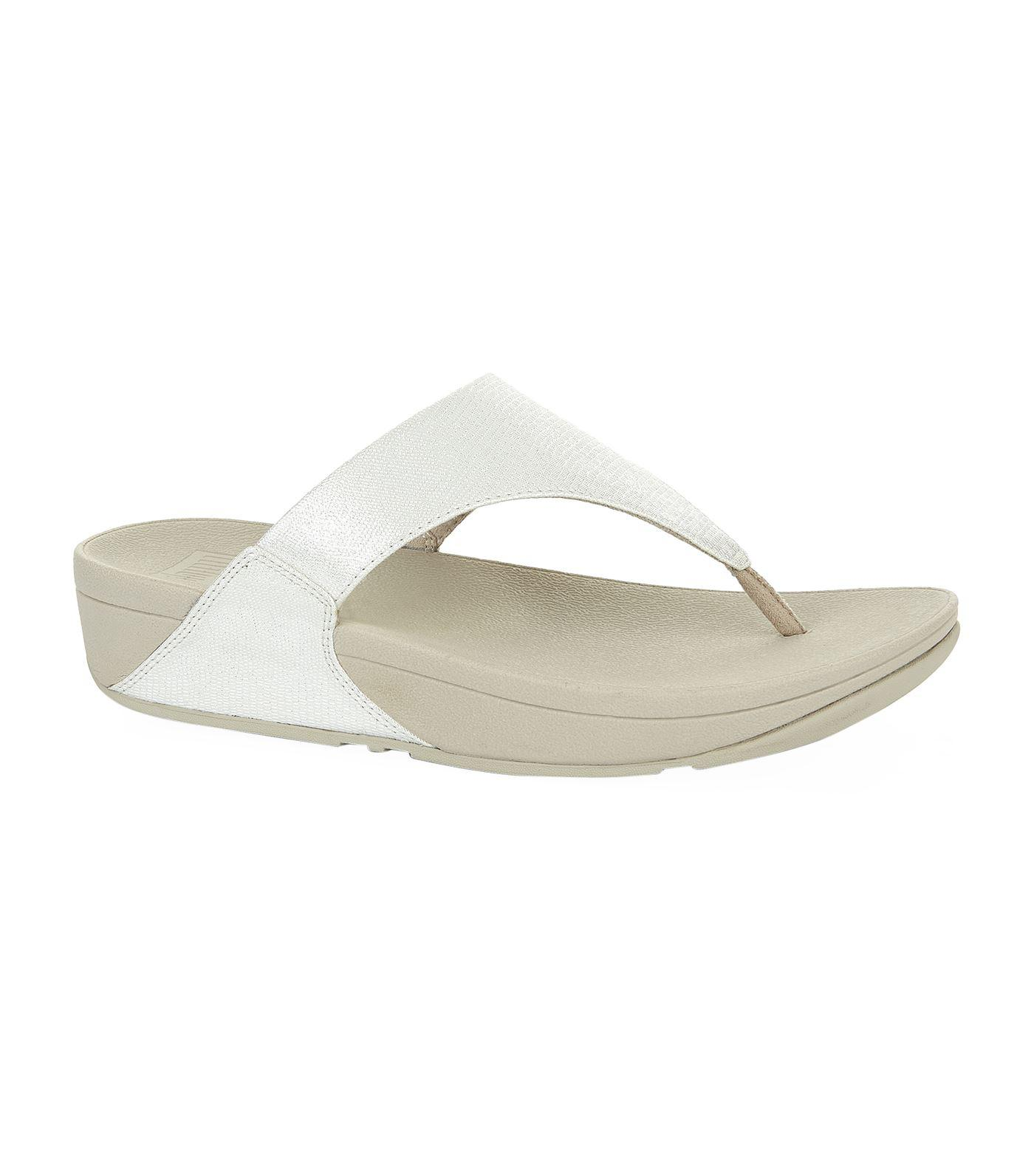 026a3ae98 Lyst - Fitflop Lulu Shimmy Lizard Sandals in Metallic