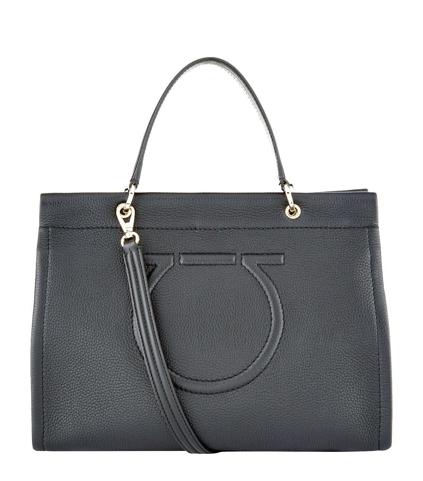 9ff41852abdc Lyst - Ferragamo Leather Meera Tote Bag in Black