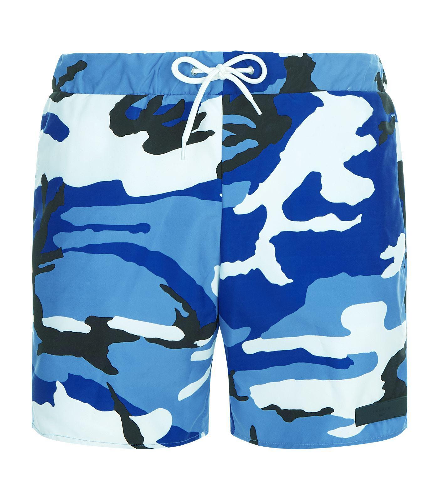 137ca28c8c Sandro Camouflage Swim Shorts in Blue for Men - Lyst