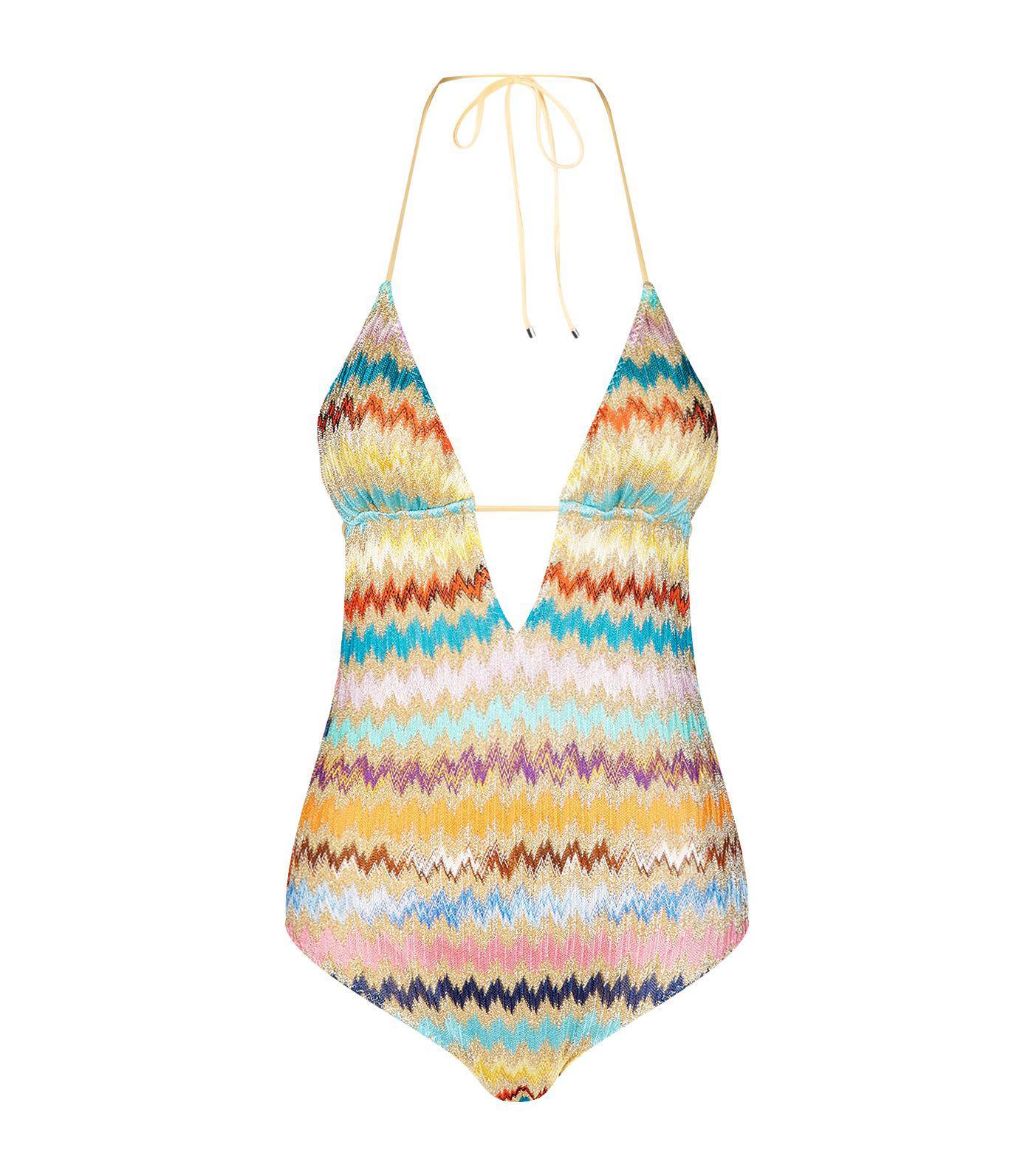 061f91b64f6a7 Missoni Plunge Zigzag Swimsuit - Lyst