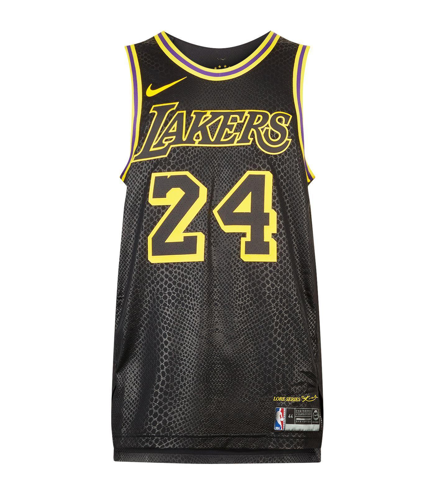 77f414041 Nike Kobe Bryant Lakers Jersey Tank in Black for Men - Lyst
