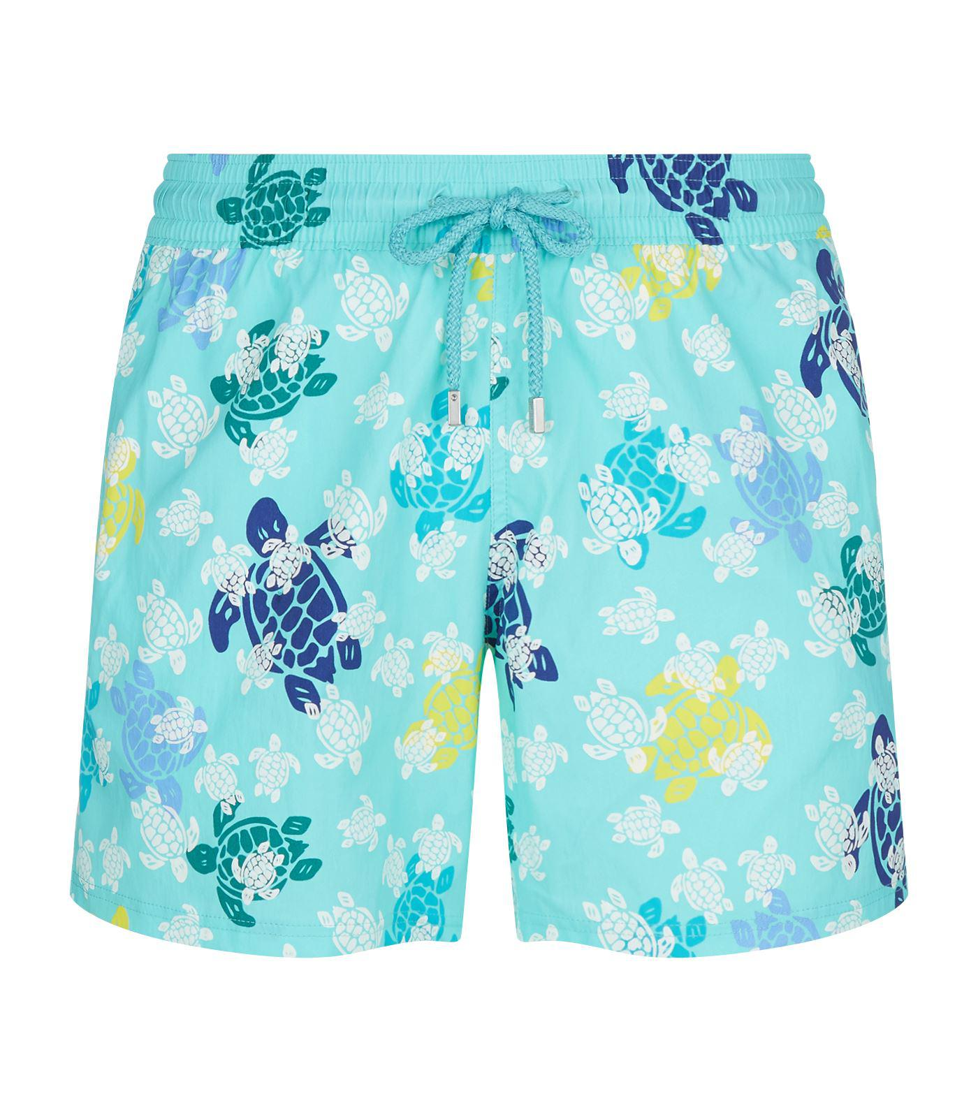 f0a44e4819796 Vilebrequin Moonrise Glow-in-the-dark Swim Shorts in Blue for Men - Lyst