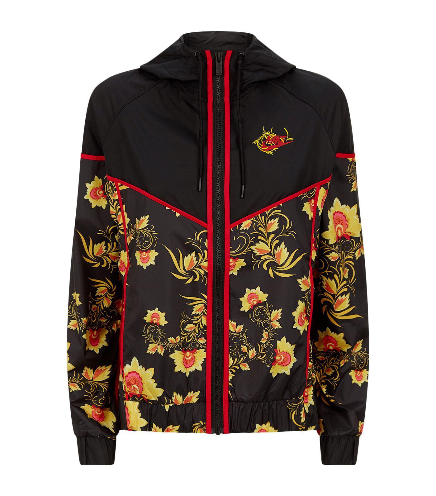 3f888ec3c7 Nike Russian Floral Track Jacket in Black - Lyst