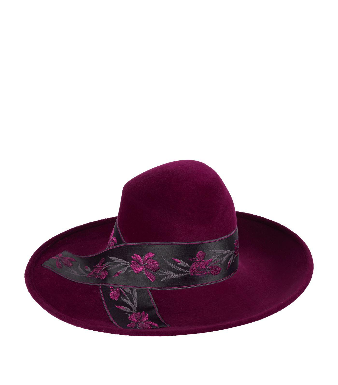Philip Treacy Large Floral Band Hat in Purple - Lyst 5fb50807f306