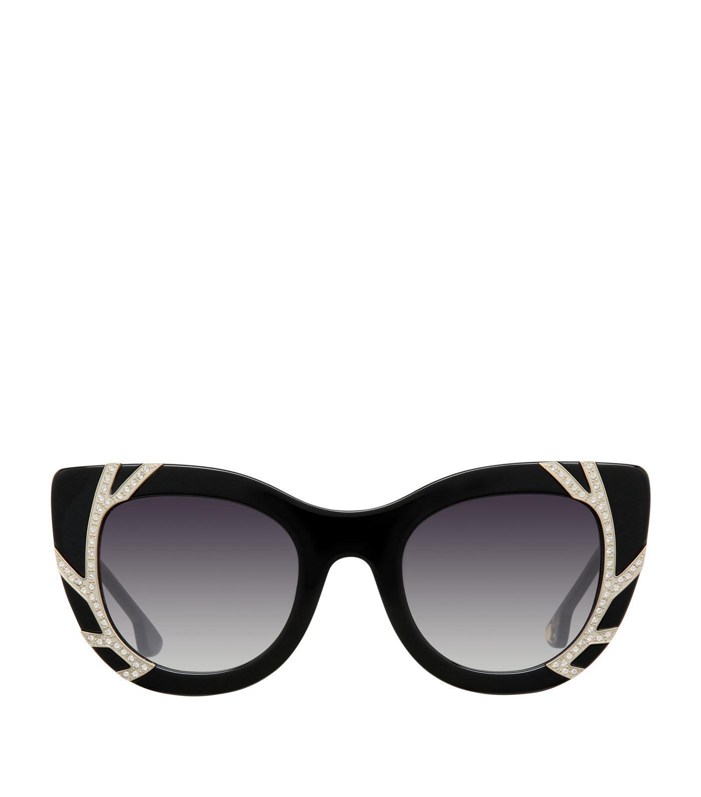 20f25c0de1 Alice + Olivia Delancey Cat Eye Sunglasses in Black - Lyst