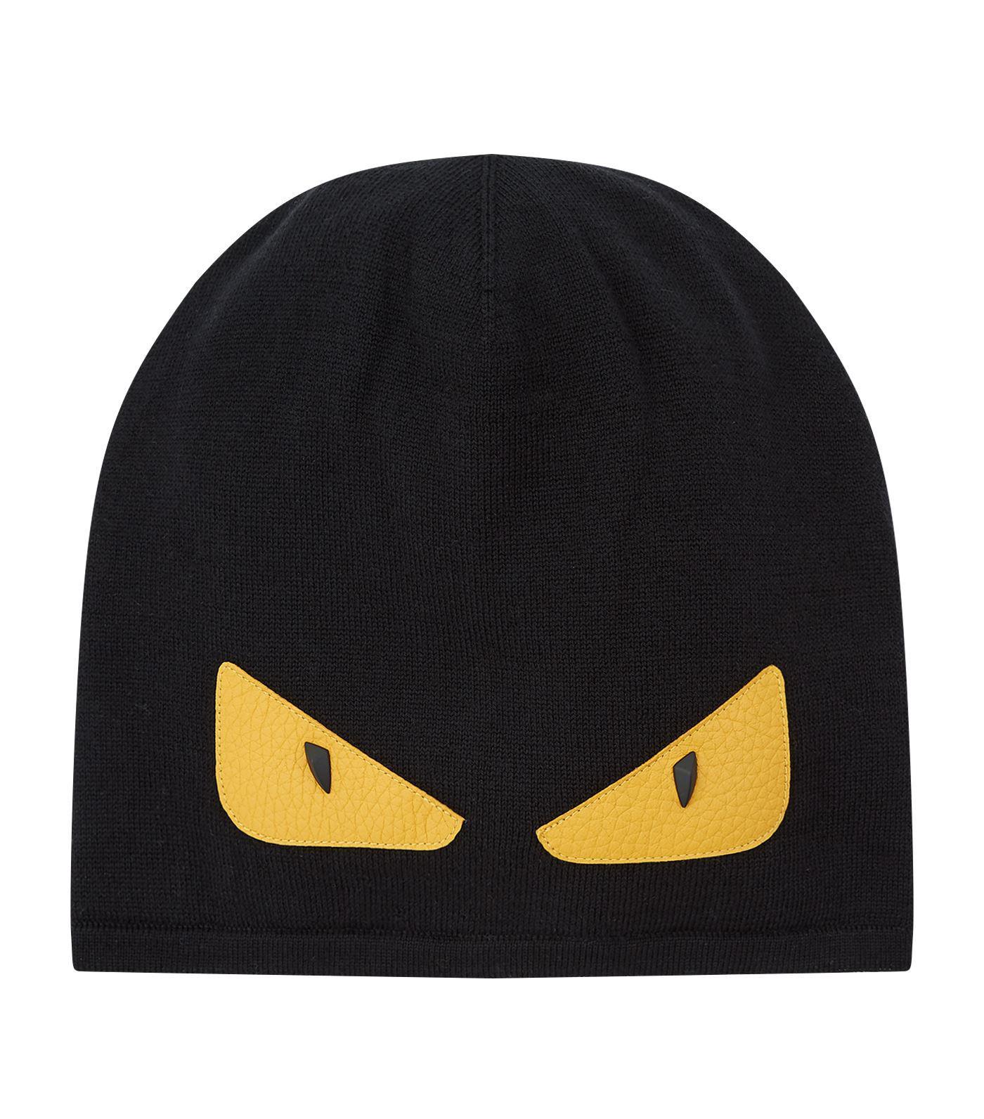 e4b14d7ec7a Lyst - Fendi Knitted Monster Eye Beanie in Black for Men