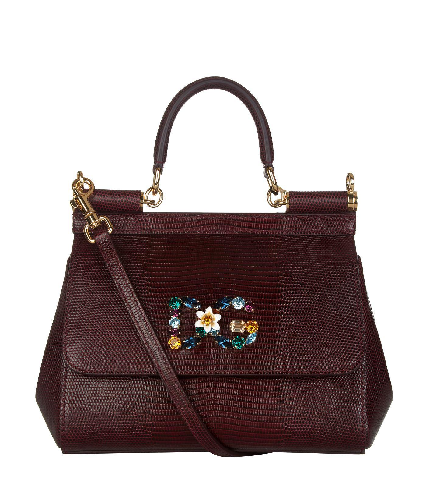 175b023226 Dolce   Gabbana - Multicolor Small Leather Iguana Print Sicily Bag - Lyst