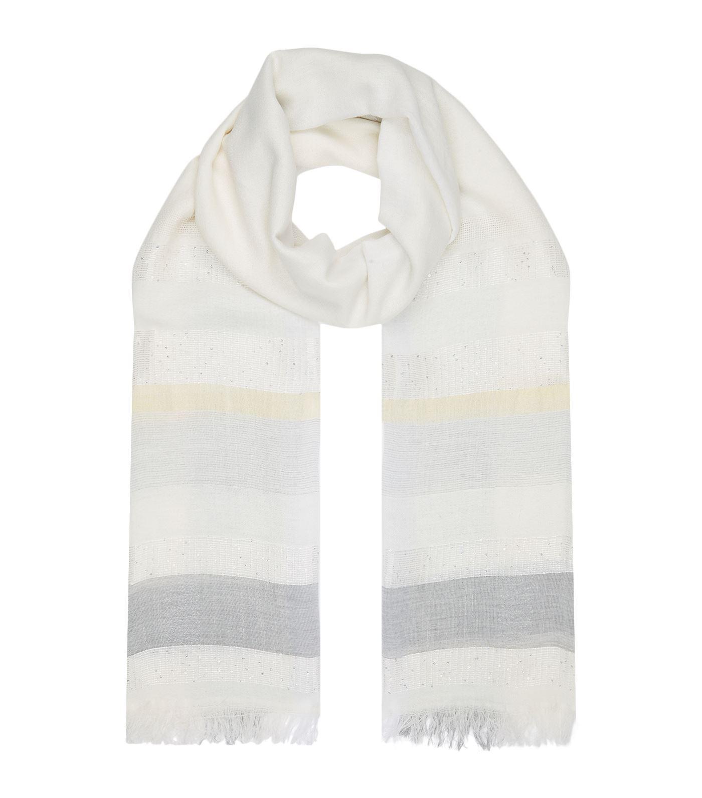 fringed scarf - Grey Fabiana Filippi e5MppoO