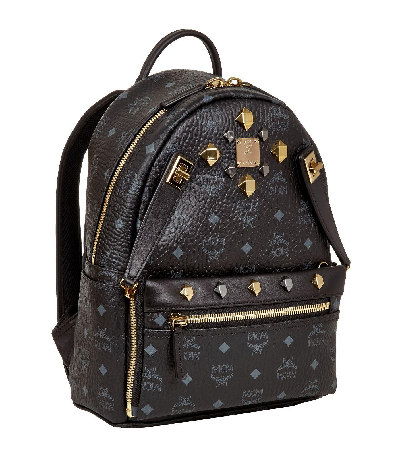 mcm small dual stark backpack in black lyst. Black Bedroom Furniture Sets. Home Design Ideas