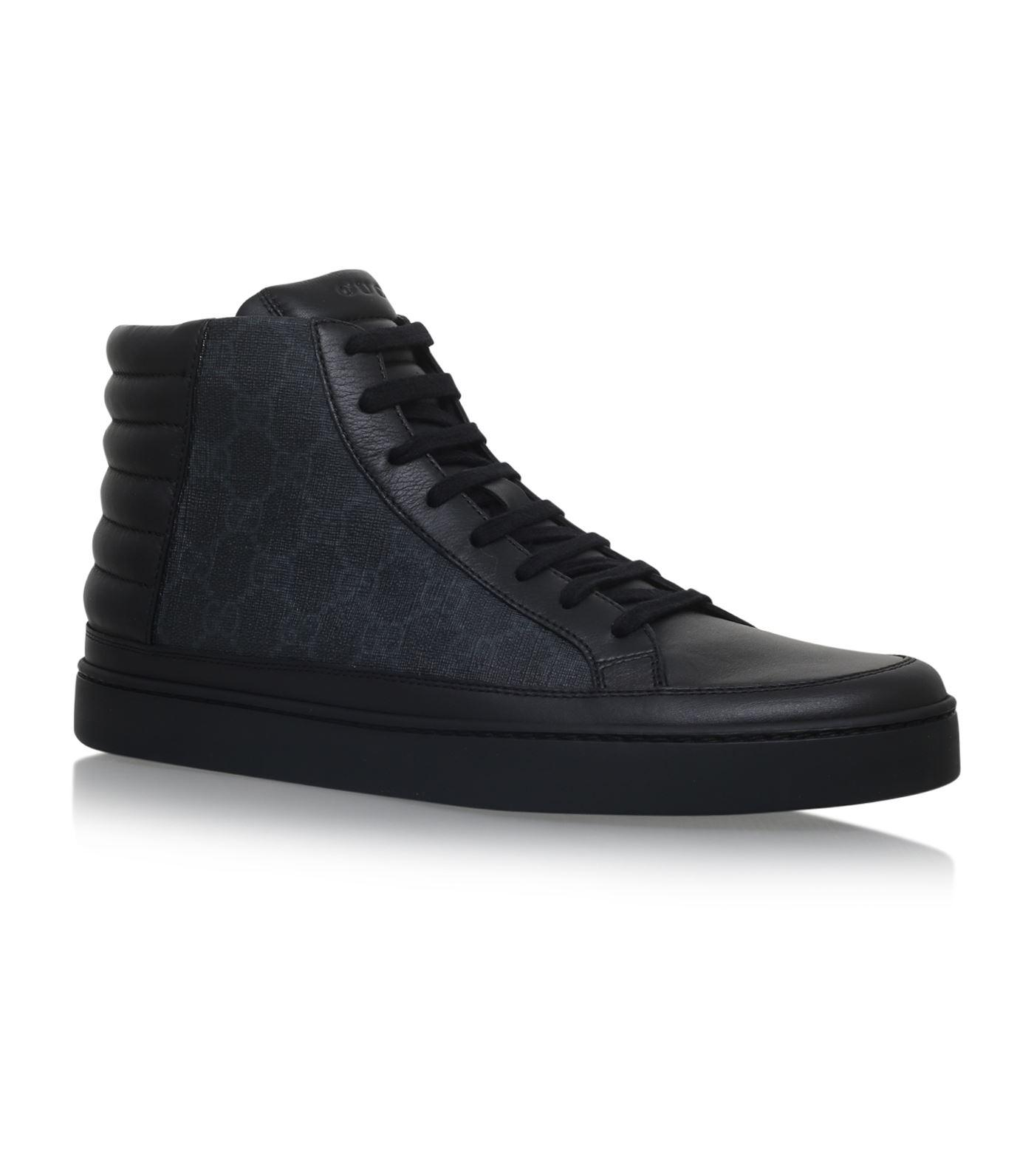 Gucci Common Logo High-top Sneakers in Black for Men ...