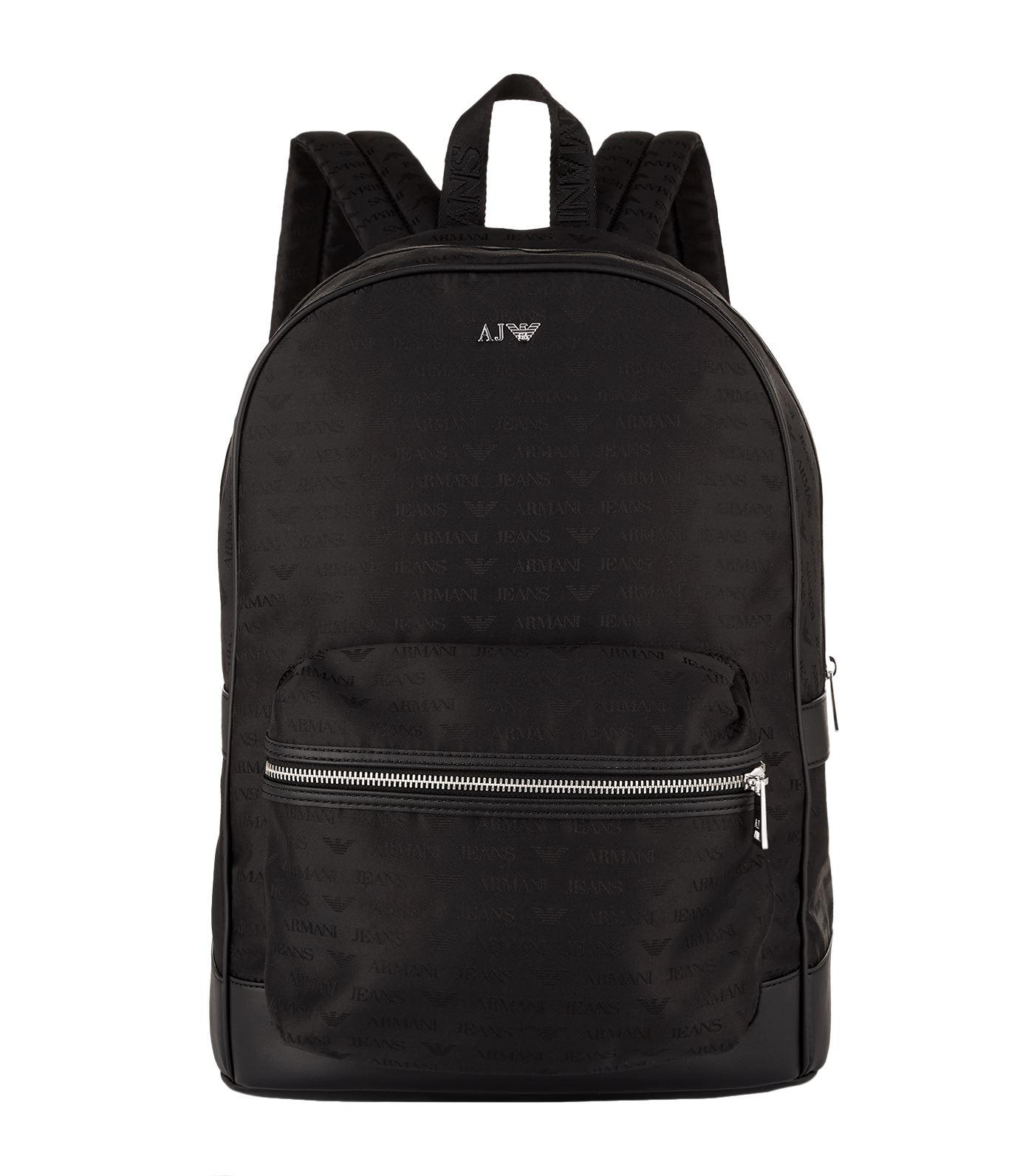78ee1ec85e91 Armani Jeans Tonal Logo Backpack in Black for Men - Lyst