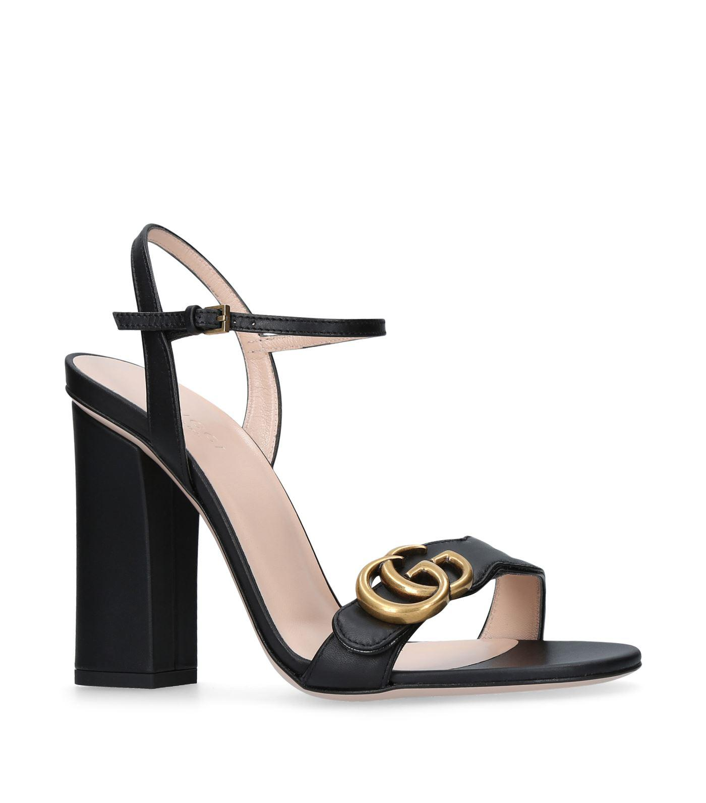a37c6754ba50 Gucci Marmont Sandals 105 in Black - Lyst