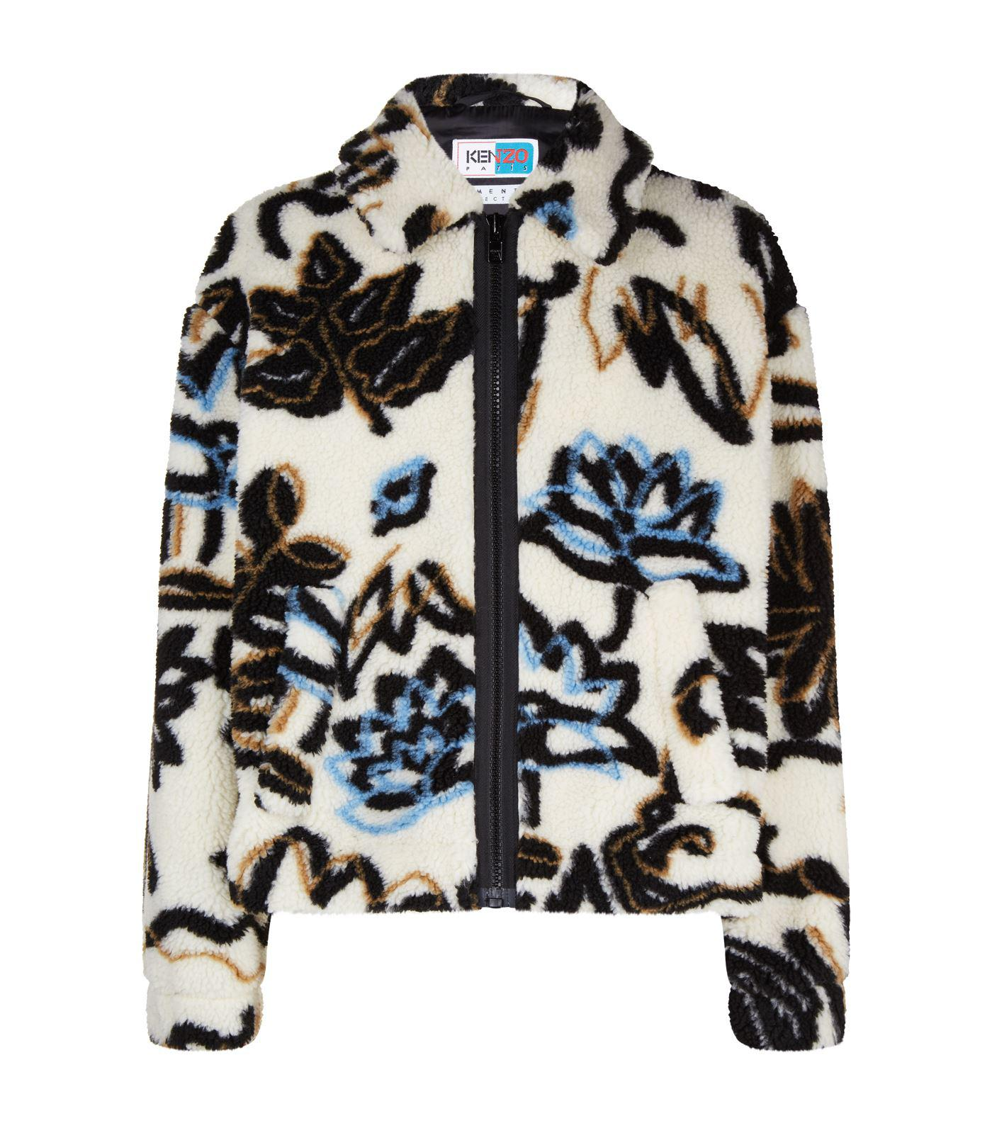 0f0cd79a57 KENZO Floral Fleece Jacket in Natural for Men - Lyst