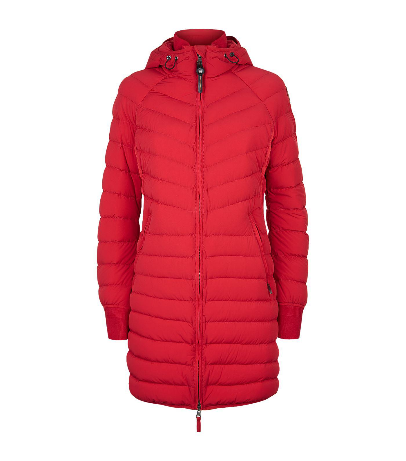 Parajumpers. Women's Red April Long Puffer Jacket