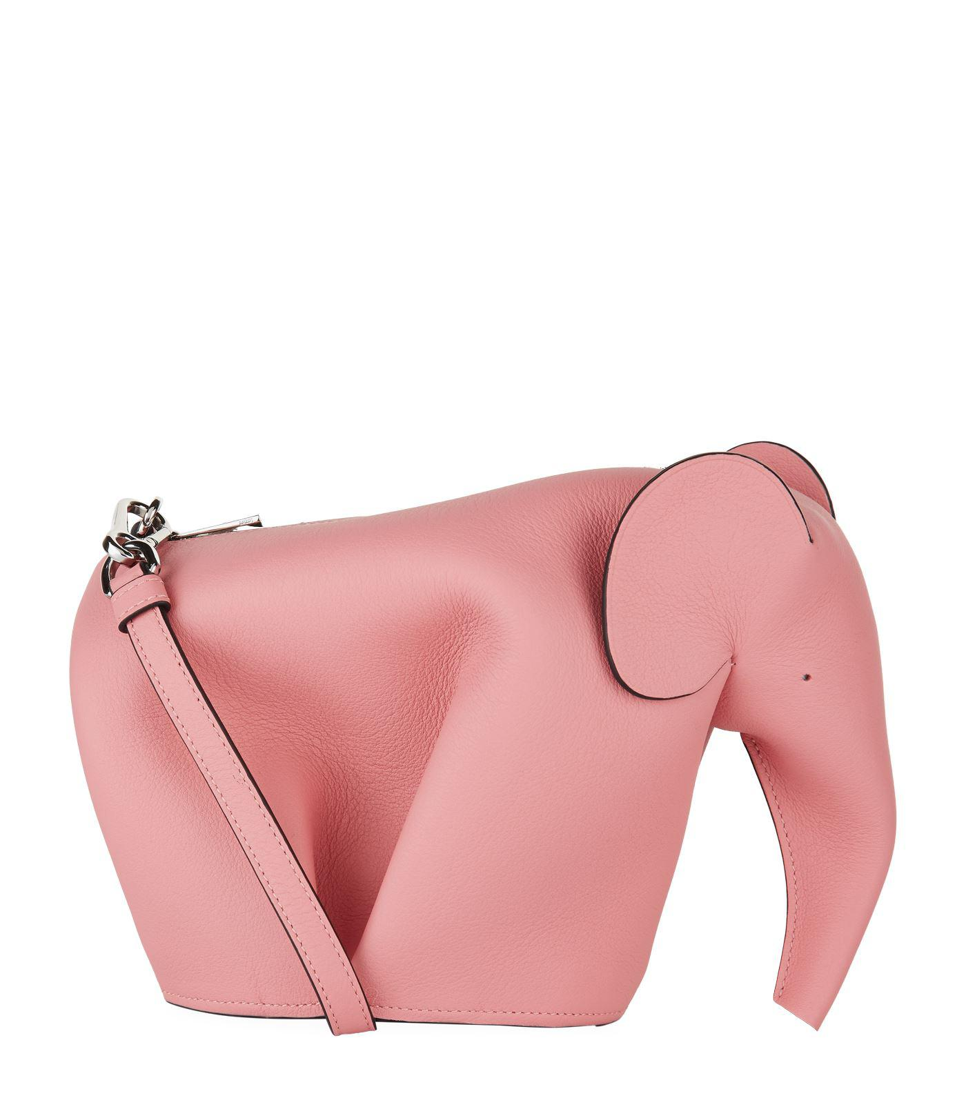 4a1ad4e9d Lyst - Loewe Mini Leather Elephant Bag in Pink - Save 11%