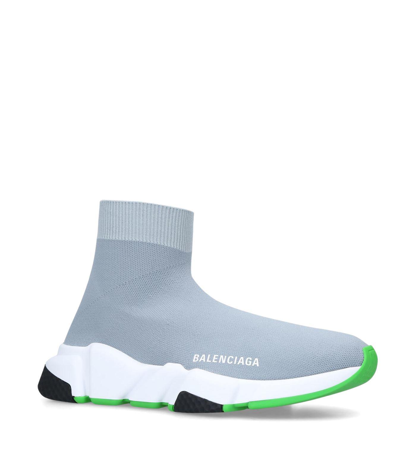 73af8f30ed7aea Balenciaga - Gray Speed High Top Sock Trainers - Lyst. View fullscreen