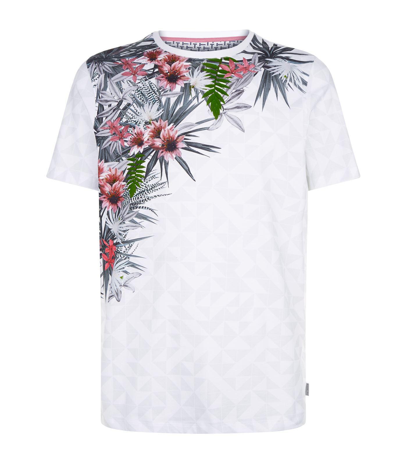 5b02096c62fbd0 Ted Baker Lassie Floral Print T-shirt in White for Men - Lyst
